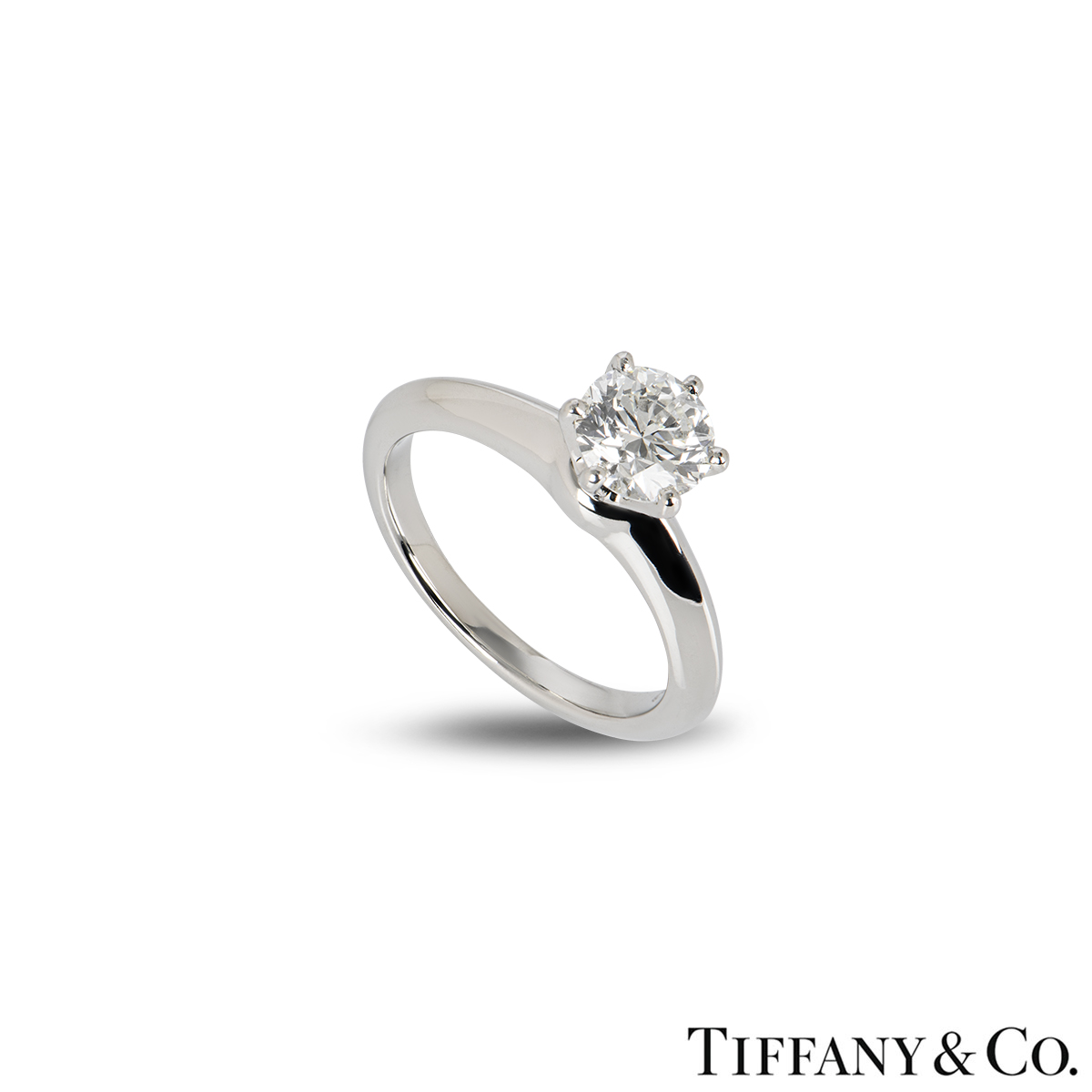 Tiffany & Co. The Tiffany Setting Diamond Ring 1.00ct H/VVS1 XXX